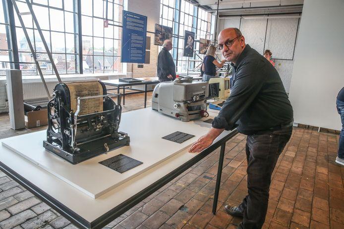 Drukpersen in het Industriemuseum