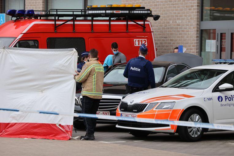 De verdachten van de moord op David Polfliet verschenen in maart in de jeugdrechtbank in Dendermonde. Beeld Jan De Meuleneir / Photo News