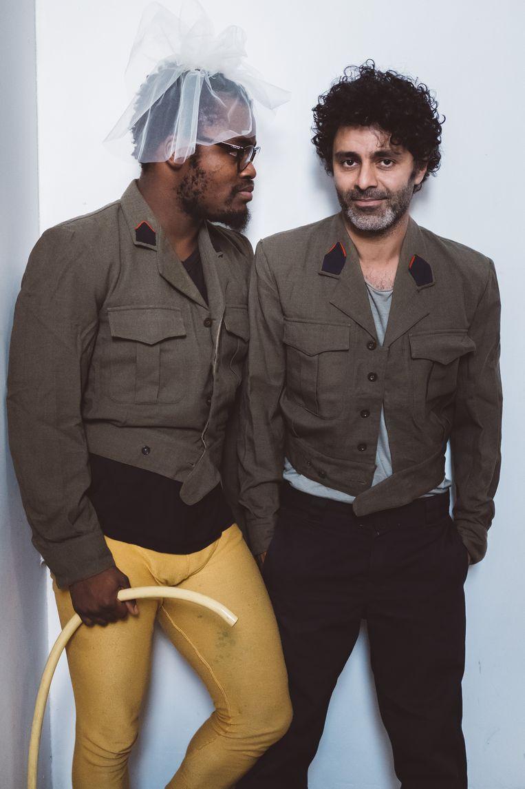Gorges Ocloo en Haider Al Timimi van Studio Shehrazade. Beeld Wouter Van Vooren