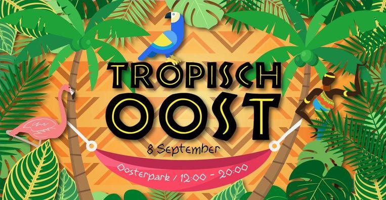 Een tropisch tuinfeestje in het Oosterpark. Beeld Kameleon Concepts