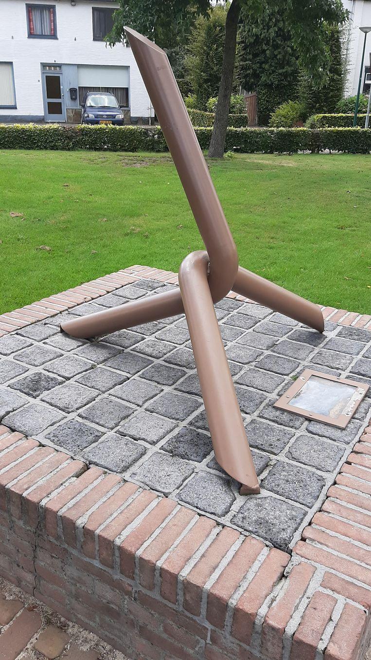 'De Kraaienpoot' herinnert in Luyksgestel aan het roemruchte smokkelverleden.  Beeld John Graat