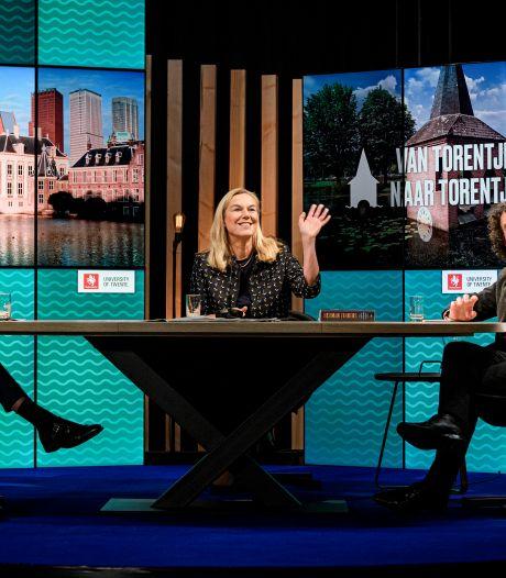 Carrière-diplomaat Kaag ook op Twents podium snelle leerling in verkiezingscampagne