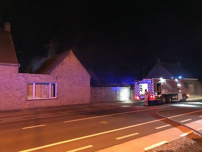 De brand ontstond op de zolderverdieping.