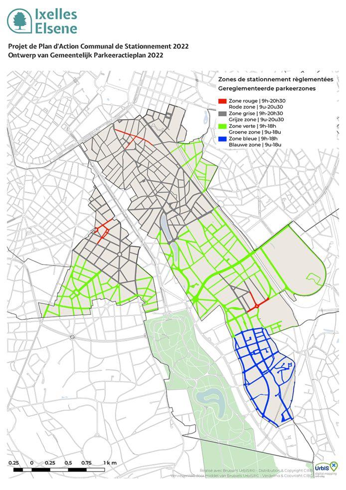 Voici le projet de la commune d'Ixelles en matière de stationnement.