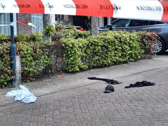 Kleding die vermoedelijk van een de verdachten is, gevonden in de Dircxken van Meghenstraat.