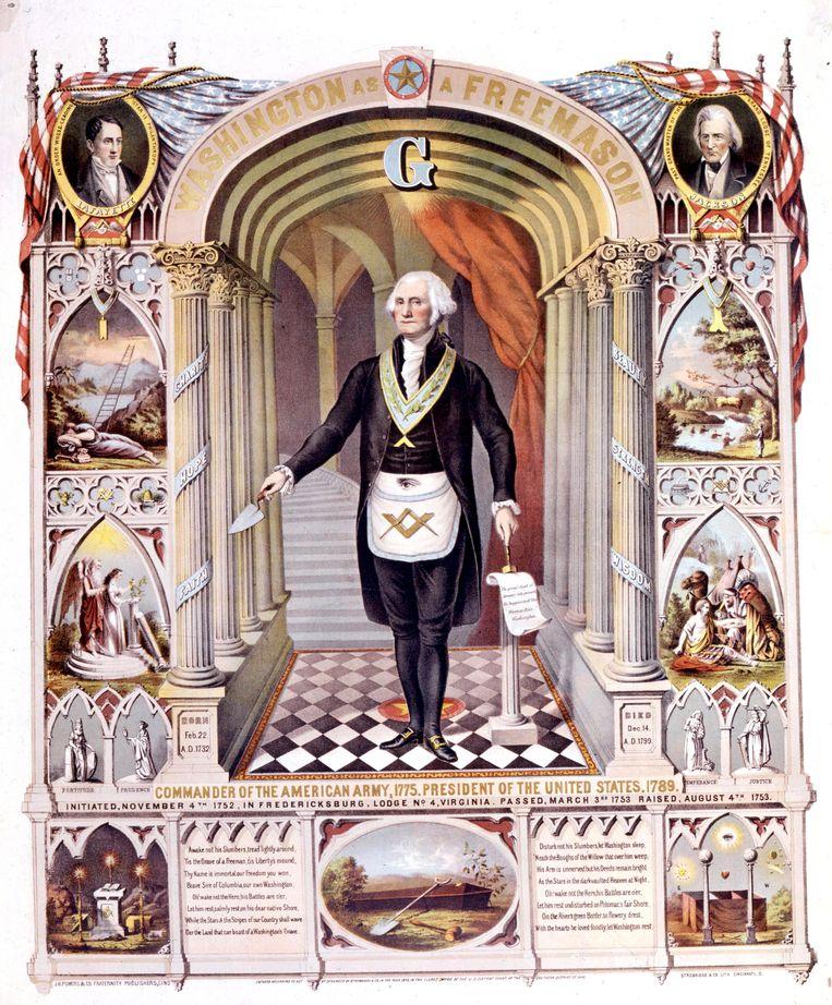 De eerste president van de VS, George Washington, was ook een broeder. Beeld Hollandse Hoogte / Topfoto