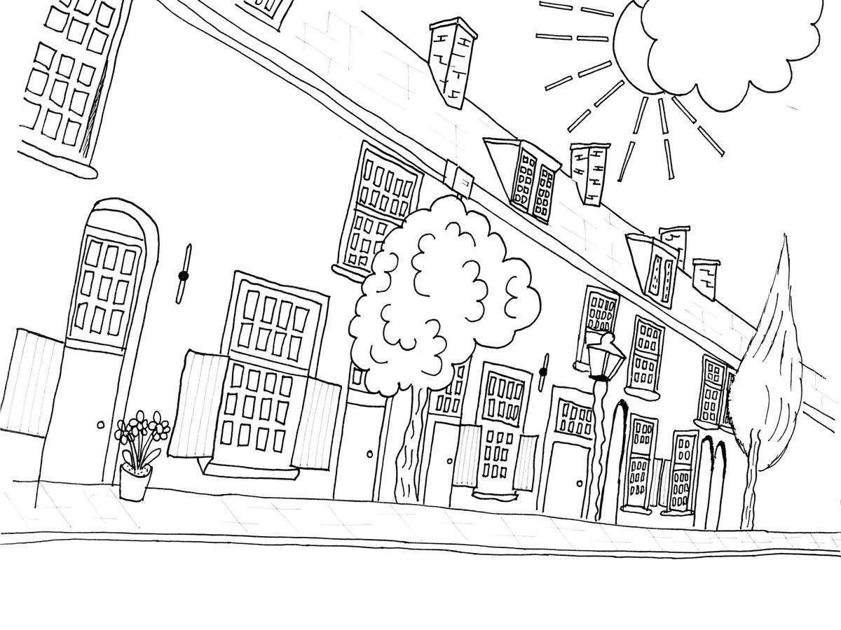 Op de tekeningen staan bijzondere plekken in Utrecht.