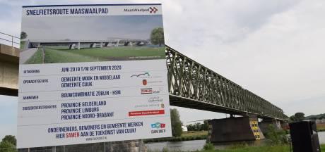 Bouw fietsbrug tussen Cuijk en Mook gaat nu écht van start