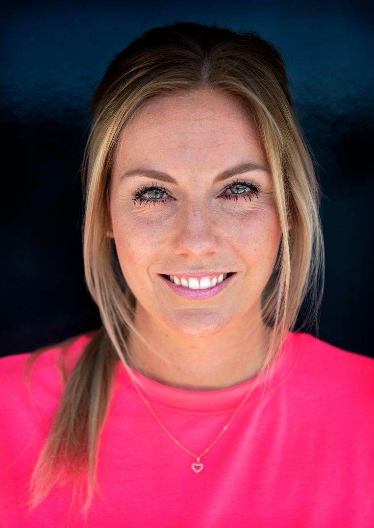 Laura Dijkema, spelverdeelster van het nederlands vrouwen volleybalteam.  Beeld Klaas Jan van der Weij