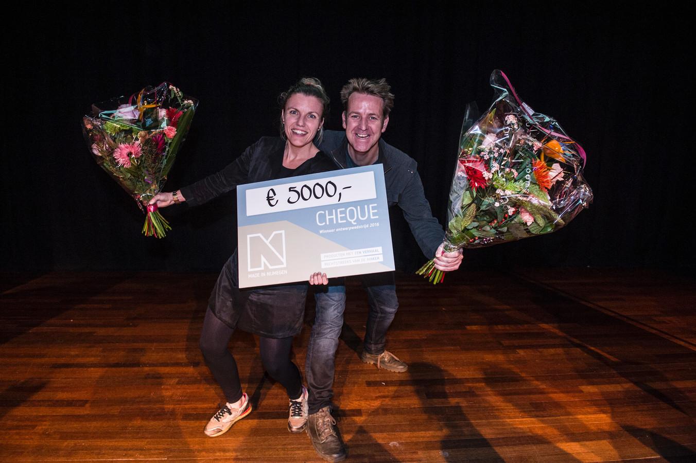 De winnaars van het Nijmeegs stadsproduct 2016.