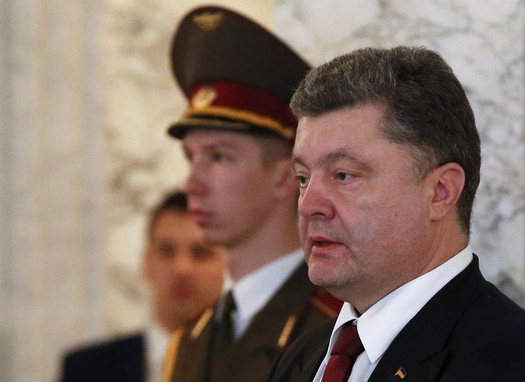 De Oekraïense president Porosjenko. Beeld REUTERS