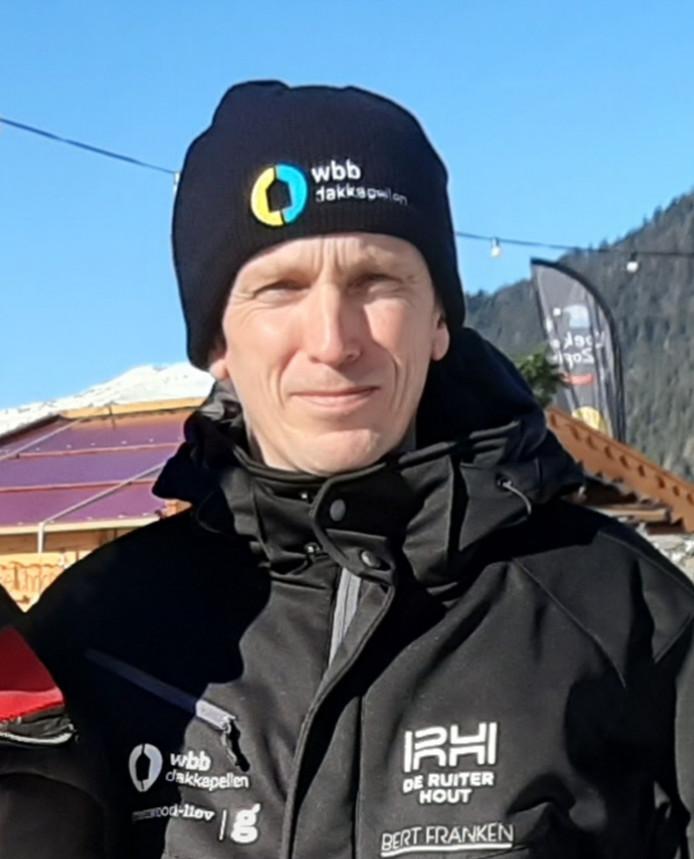 Marathonschaatser Jan Maarten Heideman tijdens de Weissensee op de baan in Biddinghuizen.