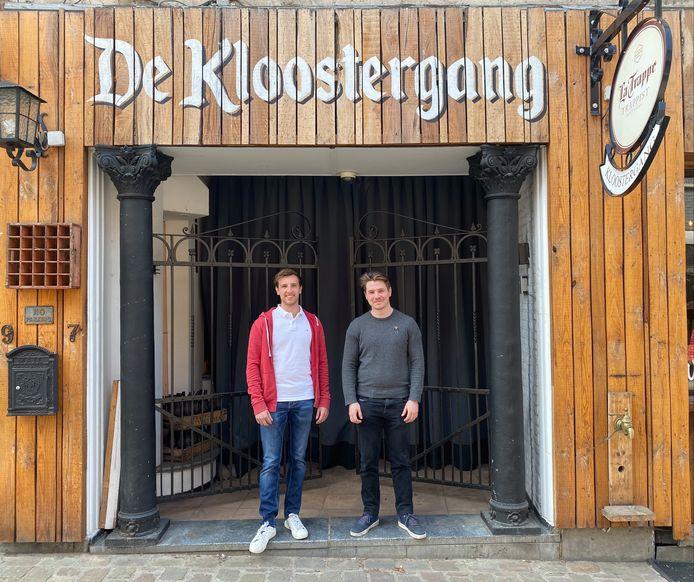 Koen Naulaerts en Kenny Hermans, uitbaters van De Kloostergang.