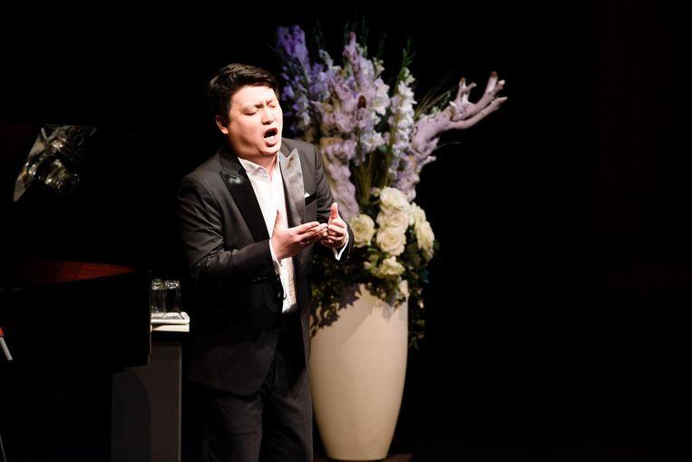 Tenor Chen Yongxi, finalist van het Internationaal Vocalistenconcours in Den Bosch. Beeld