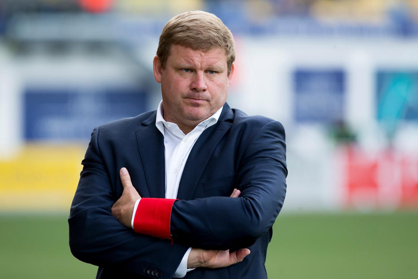 Hein Vanhaezebrouck als coach van AA Gent in 2017.