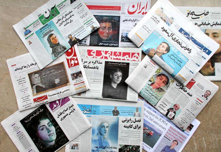 Iraanse kranten openen met het overlijden van Maryam Mirzakhani op de voorpagina Beeld afp