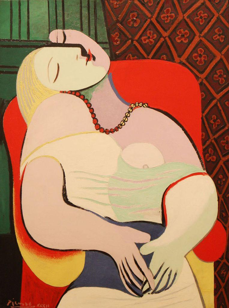 La Reve, een minder politiek werk van Picasso Beeld -