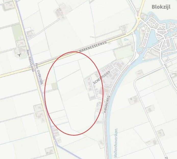 Op dit gebied is het oog gevallen voor de aanleg van een zonnepark