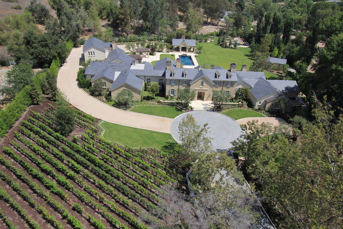 Het optrekje van Kim Kardashian in Hidden Hills, Californië.