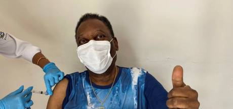 Goed nieuws voor Pelé: voetbalicoon gevaccineerd tegen het coronavirus