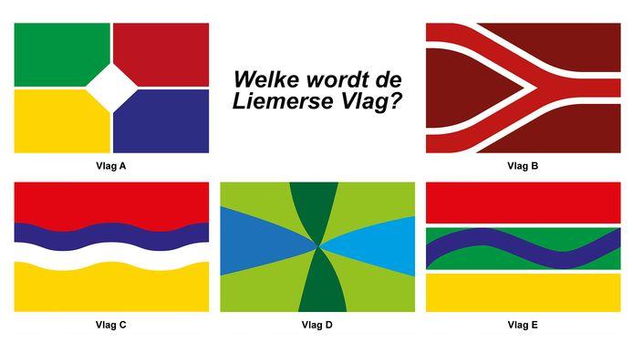 De vijf nominaties voor de Liemerse vlag zijn bekend.