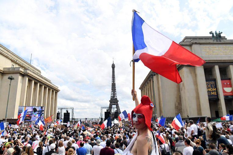 Manifestatie in Parijs. Beeld AFP