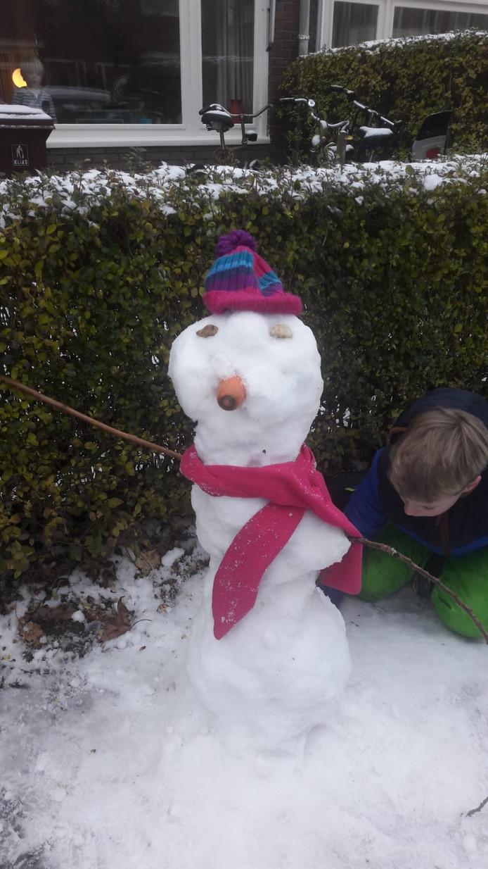 En ook deze sneeuwpop is goed gelukt.