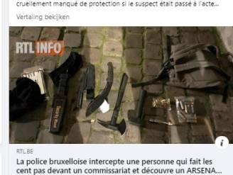 'Geradicaliseerde' opgepakt aan Brussels politiekantoor met machete, bijl en andere steekwapens