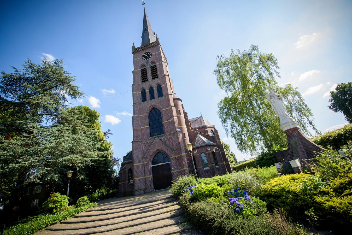 De kerk in Oerle.