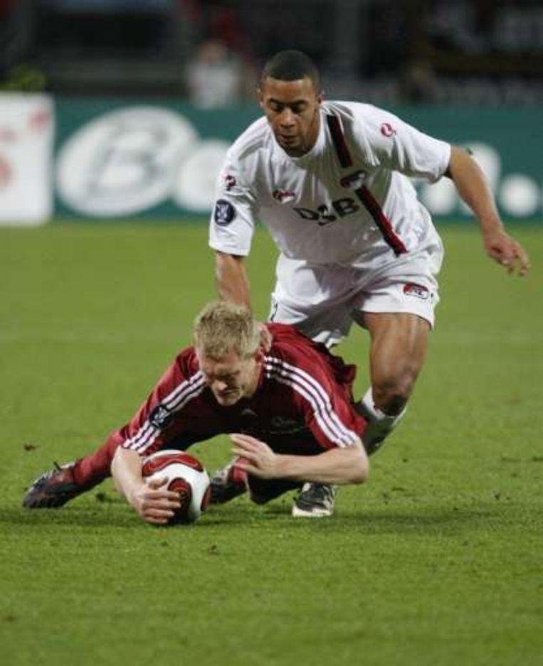 Dembélé zorgde voor de sublieme assist met een hakje. Beeld UNKNOWN