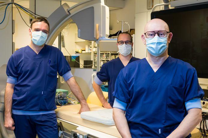 Cardiologen van het Jessa Ziekenhuis Thomas Phlips, Pieter Koopman en Johan Vijgen.