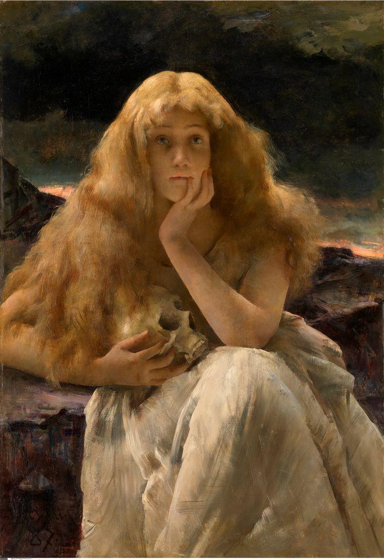 Verbeelding door Alfred Stevens, ca. 1887.  Beeld Museum voor Schone Kunsten, Gent