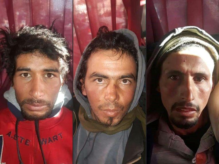 Daders Rachid Afatti (L), Ouziad Younes (C) en Ejjoud Abdessamad (R).