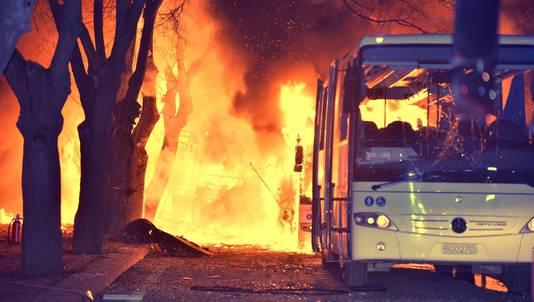 Een maand geleden kwamen er nog 28 mensen om het leven door een aanslag met autobom in de Turkse hoofdstad.