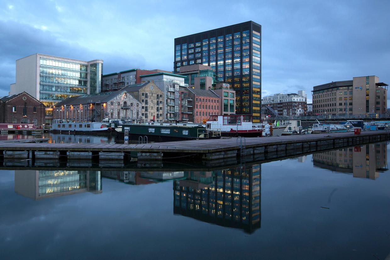 Het hoofdkantoor van Google in Dublin.  Beeld Bloomberg via Getty Images