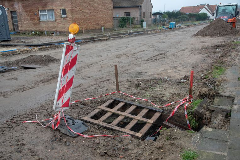 Archiefbeeld. Zo zag de Steentjesstraat er lang uit.