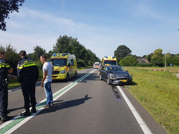 Het ongeval op de N377 bij Dedemsvaart.