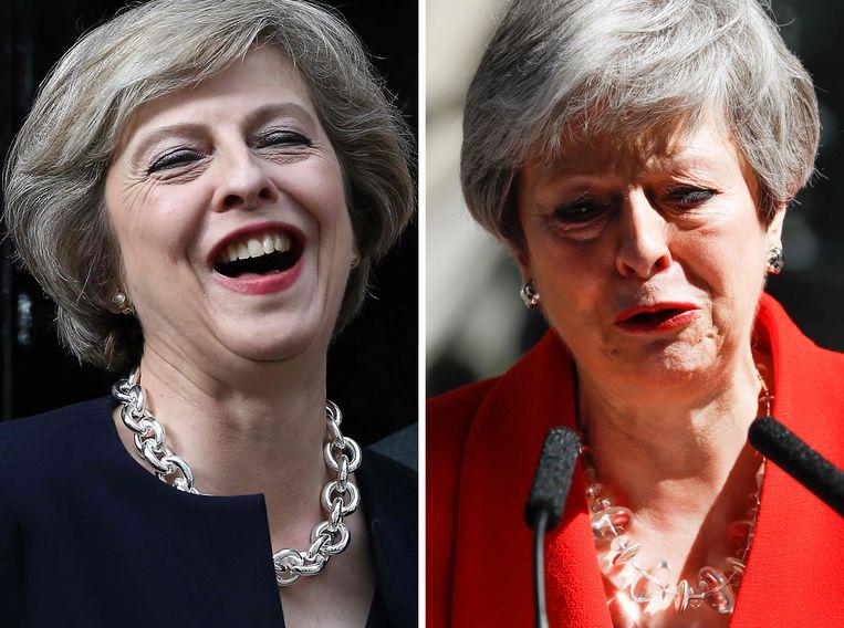 Gisteren zagen de Britten na een calvarietocht van drie jaar hun premier voor het eerst in tranen.