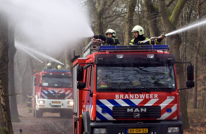 Oefening van de brandweer in Ede. © Herman Stöver