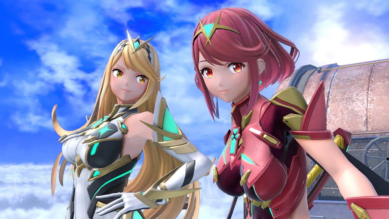 Mythra (links) en Pyra (rechts) zijn de nieuwe personages in Super Smash Bros Ultimate. Tijdens een gevecht kunnen ze van plek wisselen.
