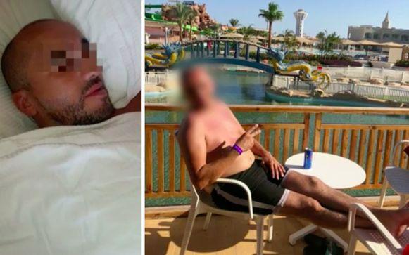 De Belg (40) kreeg een paniekaanval tijdens het duiken en is sindsdien aan zijn hotelbed gekluisterd.