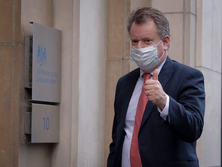 David Frost, de Britse onderhandelaar. Hij zag de brexit als de revolutie van de burger tegen de dominante EU. Beeld EPA