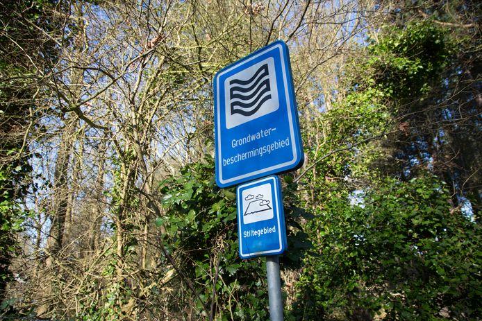Grondwaterbeschermingsgebied. Foto ter illustratie