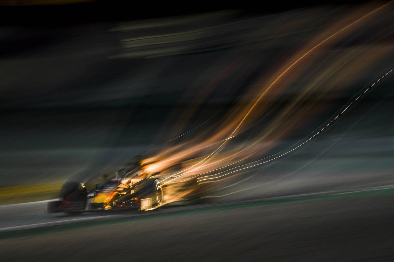 Pierre Gasly in zijn Honda RB15 tijdens de eerste testweek.