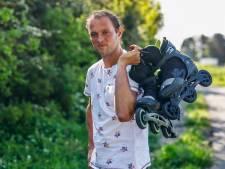 Monstertocht brengt Johan Noordam skeelerend in Den Bosch