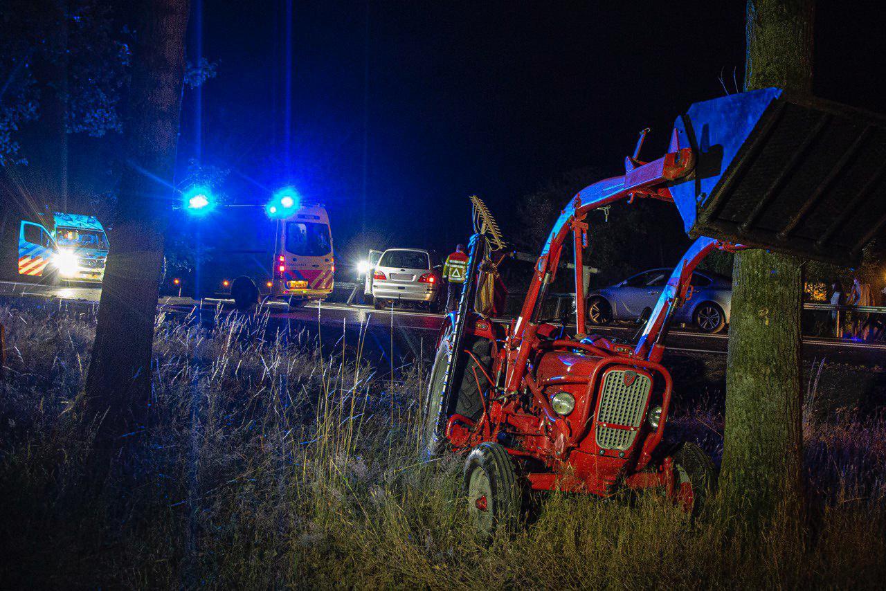 De tractor liep grote schade op