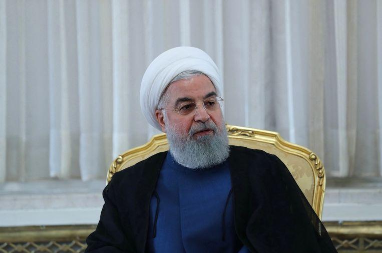 De Iraanse president Hassan Rohani in 2018. Beeld Foto AFP