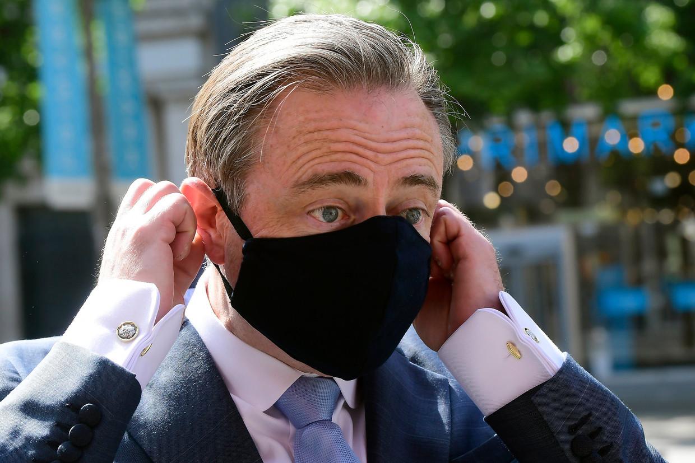 Antwerps Burgmeester Bart De Wever op de Meir. Beeld Photo News