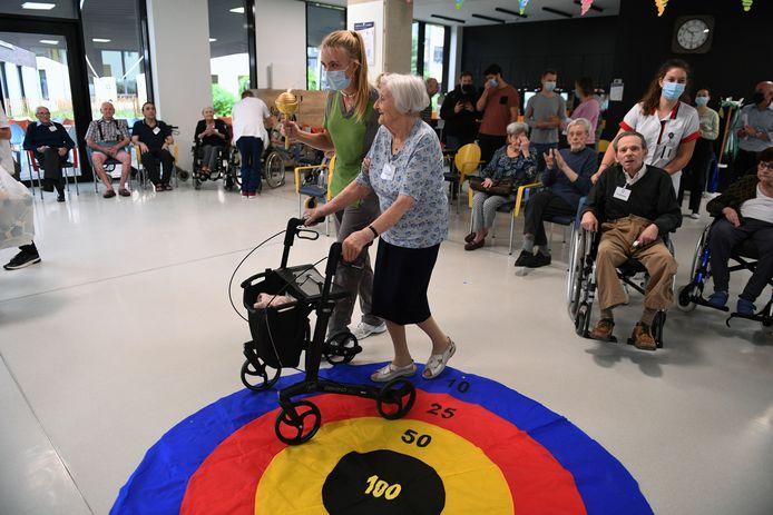 Olympische Spelen voor bewoners WZC Remy in Leuven.