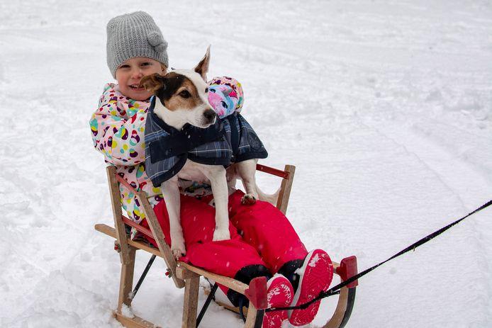Sleetje rijden samen met de hond.